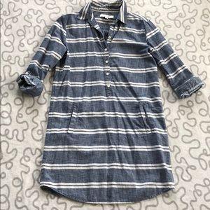 LOFT Striped Shirtdress
